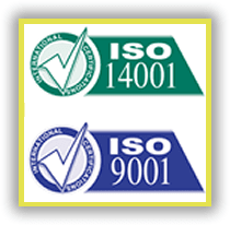 Contamos con ISO 14001 ENVIROMENTAL CERTIFICATION CALIDAD ASEGURADA y ISO 9001 QUALITY CERTIFICATION